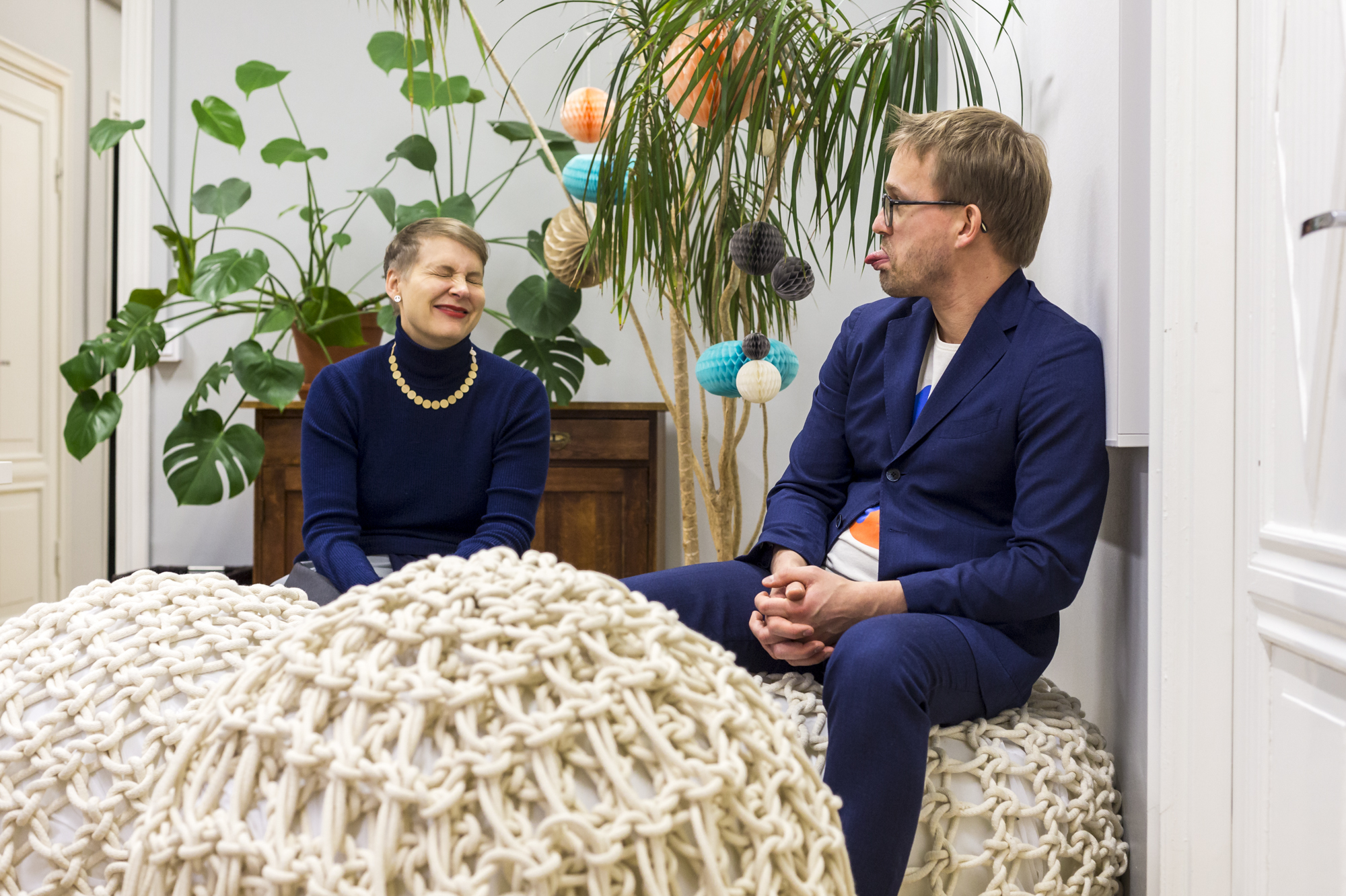 Kaisa and Timo Berry at Berry Creative's studio