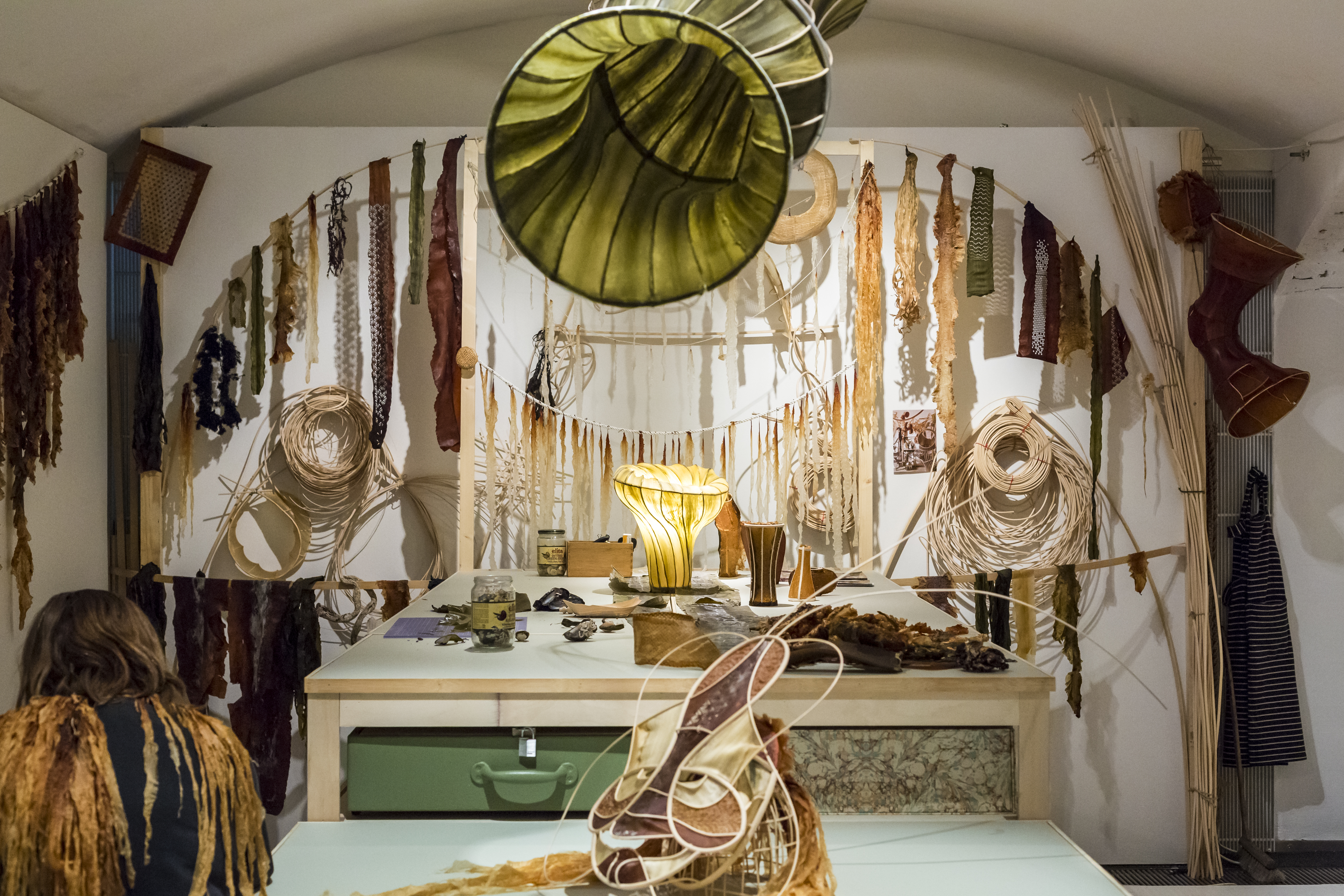 The seaweed design laboratory at The Critical Tide Exhibition