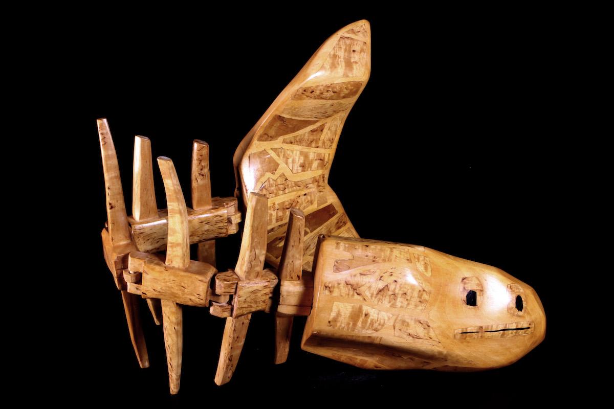 Wooden sculpture by Santeri Mortti