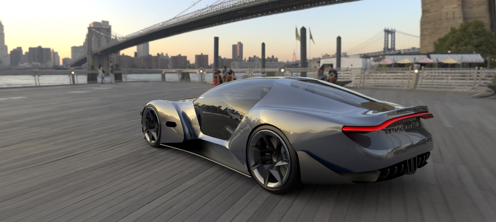 Ohranen did the rendering for an Aston Martin style car so that he was able to view a realistic-looking version through VR glasses. This first-time experience was thrilling.